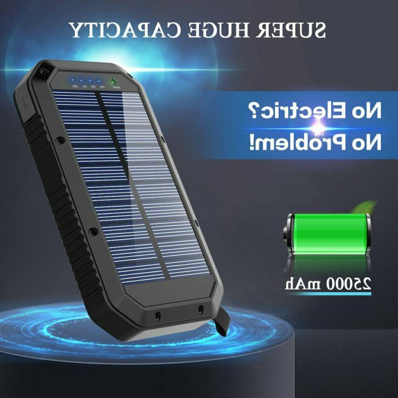 Solar Charger, 25000mAh Battery Solar Panel Charger