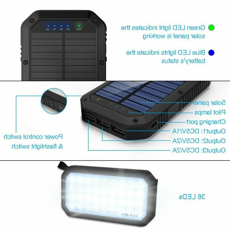Solar Charger, Solar Bank Panel with