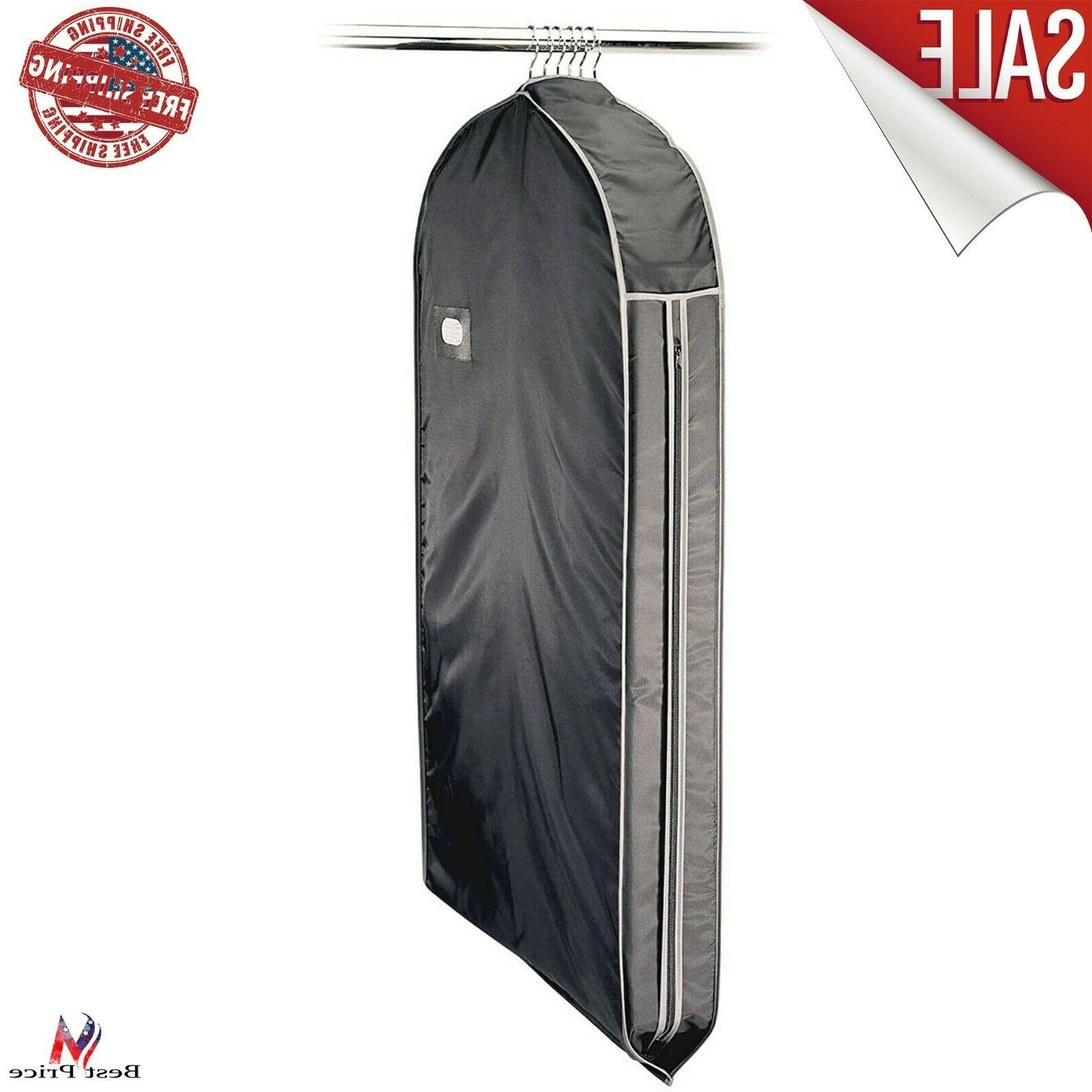 Solid Garment Travel Bag Suit With Pocket ID Zipper