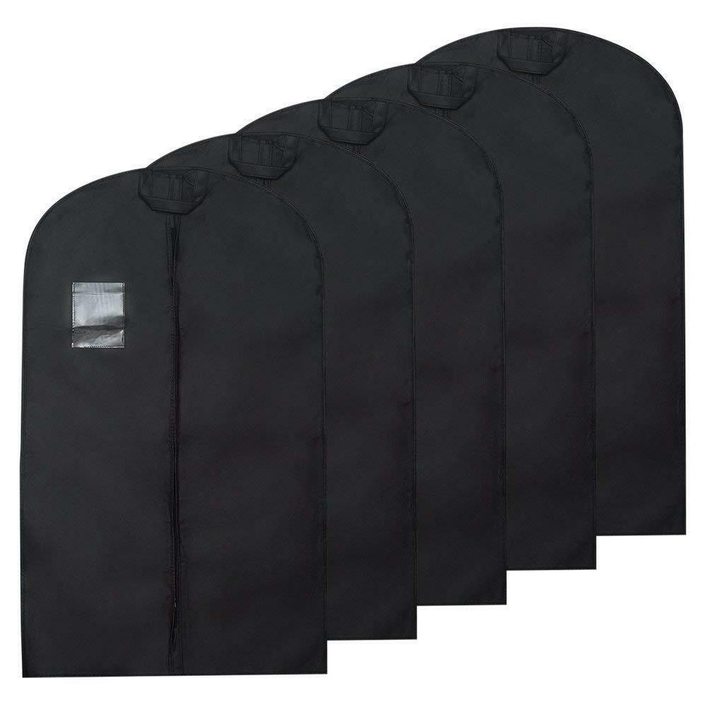 Suit Garment Bag Storage Suit Covers w/ Clear 5PACK 40INCH