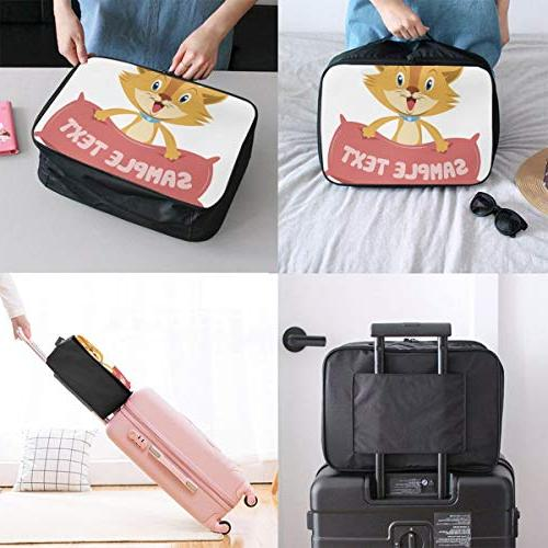 Travel Bags Cat With Pillow Trolley Handle