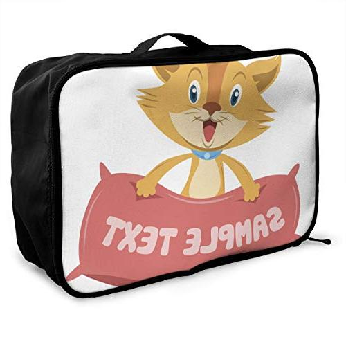 travel bags cat with pillow portable foldable