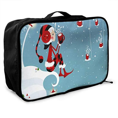 travel bags christmas girl portable suitcase trolley