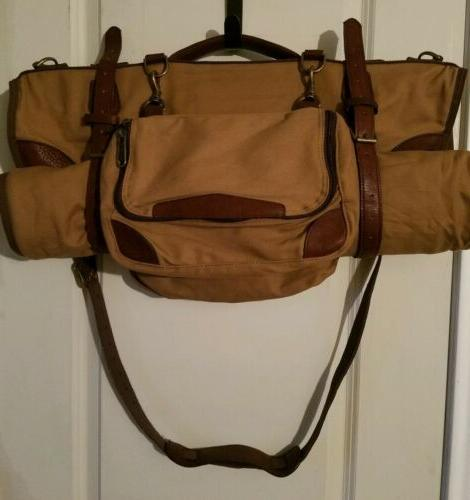 traveler s bag leather canvas roll up
