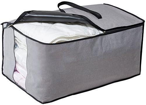 MISSLO Water Thick Over Size Folding Organizer Under Bed Storage, Carrying Bag for Blanket,