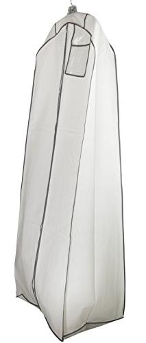 """Wedding Gown Gusseted Garment Bag - 20"""" Gusset for Large Bri"""