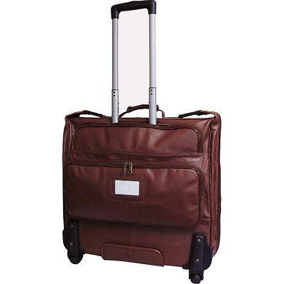 AmeriLeather Wheeled Leather Garment Bag