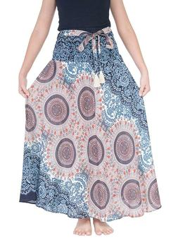 Lannaclothesdesign Women's Long Maxi Skirt Bohemian Gypsy Hi