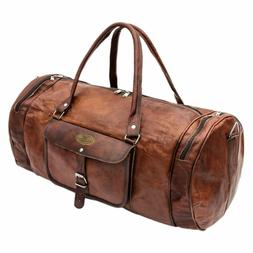 Large Real Leather Travel Luggage Garment Duffel Gym Shoulde