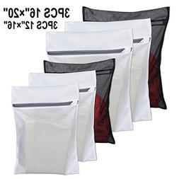 6 Pack Laundry Bag Delicates Mesh Wash Bag For Hosiery, Unde