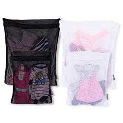 New Laundry Washing Bags Travel Sorting White and Black Set