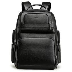 Bopai 40L Leather Backpack for Men 15.6 inch Laptop Backpack