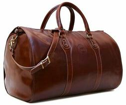 Cenzo Leather Garment Duffle Bag Luggage Suitcase Carryon We