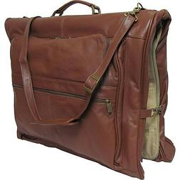 Leather Three-suit Garment Bag Brown