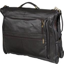 Leather Three-suit Garment Bag Chestnut Brown