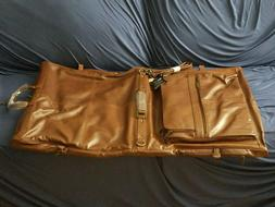 Amerileather Leather Three-Suit Garment Bag