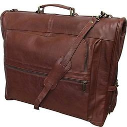 Leather Three-suit Garment Bag Vintage Terazzo Brown