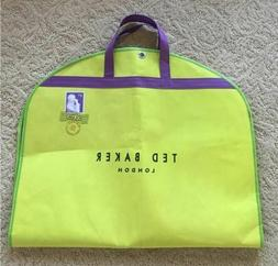 Ted Baker London Suit Garment Bag Green and Purple Double Zi