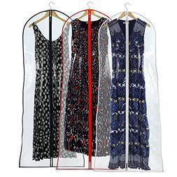 "Hangerworld 72"" Long Dress Gown Garment Cover Bags, Pack of"