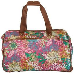 Lily Bloom Luggage Designer Pattern Suitcase Wheeled Duffel