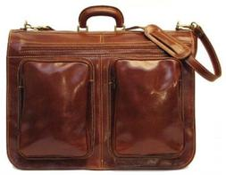 Floto Luggage Venezia Garment Bag Suitcase, Vecchio Brown, L