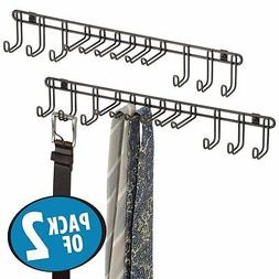 Pack Of 2 Mdesign Wall Mount Closet Organizer Rack For Ties