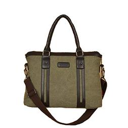 Dayfine Men's Canvas Business Laptop Bags Tote Messenger Sho