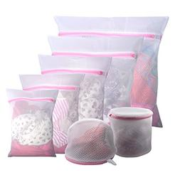 Gogooda 7Pcs Mesh Laundry Bags for Delicates with Premium Zi