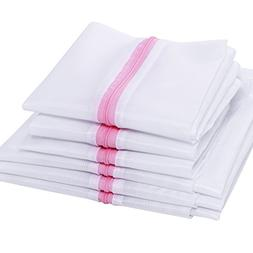 BEWISHOME 6 Pack Mesh Laundry Bags  - Wash Bag w/ Zipper for