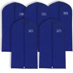 Hangerworld Pack of 5 Navy Blue Breathable Suit Garment Clot