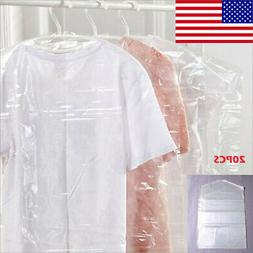New 20PC Plastic Clear Dust-proof Cover Suit/Dress Garment B