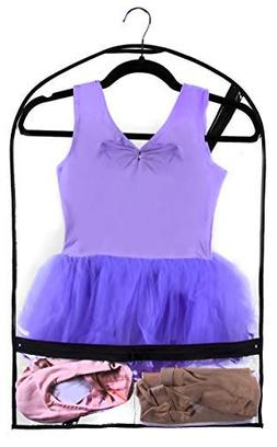 New and Improved Clear Dance Costume Garment Bag Kids Durabl