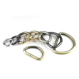 10 pcs Open-end Metal D-Ring Buckle Leather craft Garment Ba