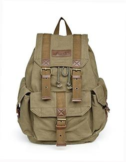 Otium 21101AMG Large Canvas Backpack - Small Size - Army Gre