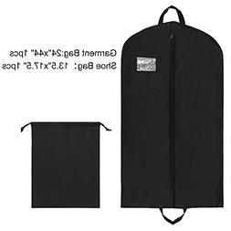 UTOVME Oxford Cloth Full Zippered Garment Bag with Shoe bag