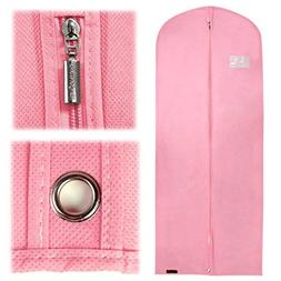 "Hangerworld Pink Breathable 60"" Suit or Dress Garment Bag -"