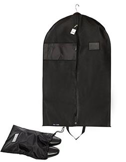 Bags for Less PREMUIM QUALITY Black Garment Bag +Shoe Bag. T