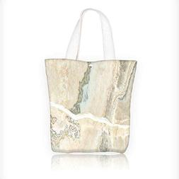 Reusable Cotton Canvas Zipper bag natural marble background