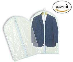 Luxehome Reusable Folding Clear Vinyl Long Garment Bags for