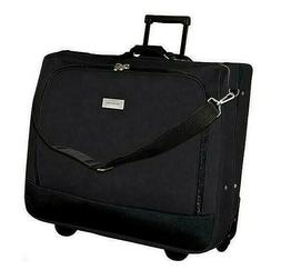 Rolling Garment Bag Clothes Carrier Luggage Clothing Suitcas