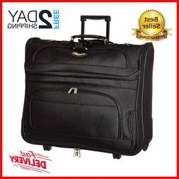 Rolling Garment Bag Wheeled Luggage Case Carry On Suitcase T