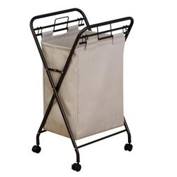 Household Essentials Rolling Laundry Hamper with Lift-Out Ba