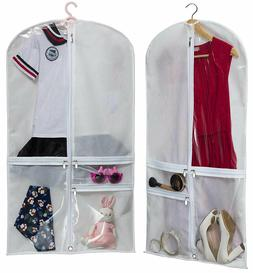 SET OF 2 Suits Dress Cover Costume Dance Garment Bag with 3