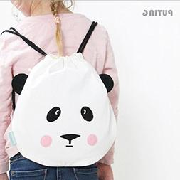 RedSonics Simple Style Backpack Women Cute Bear Face To Trav