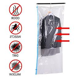 Yaheetech Hanging Vacuum Storage Bag Space Saver Bags for Cl