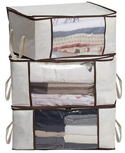 MISSLO Thick Oxford Clothing Organizer Storage Bags for Clot