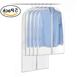 5Pack Amersumer Pack of 5 Translucent Dust Cover Garment Sto