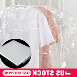 US STOCK 20pcs x Garment Covers Polythene Clear Plastic Dry