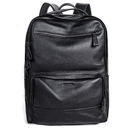 MUZOR Vintage Genuine Leather 15.6 Inches Laptop Backpack Ca