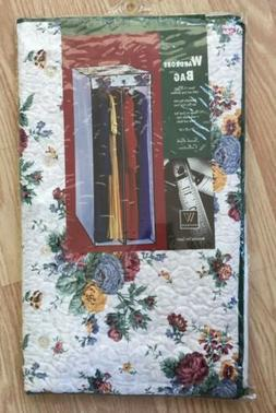 Vintage WHITMOR Quilted Garment Closet Bag for 20 Hanging Cl